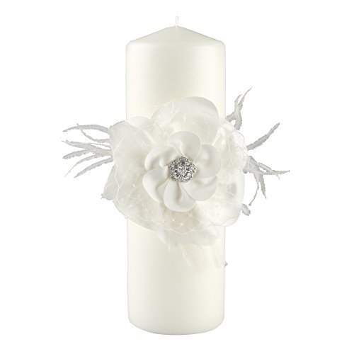 Ivy Lane Design Somerset Collection Unity Candle, 3 by 9-Inch Pillar, Ivory