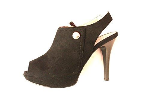sandalo accollato nero giardini cerniera camoscio nero n 38