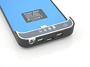 2200mAh External Backup Battery Power Pack Charger for iPhone 5 blue color