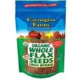 Organic Whole Flax Seed 15 Ounces (Case of 6) by Carrington Farms