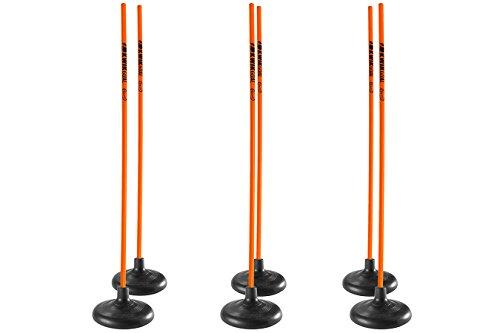 Kwik Goal Premier Coaching Sticks (6 Set), Hi-Vis Orange