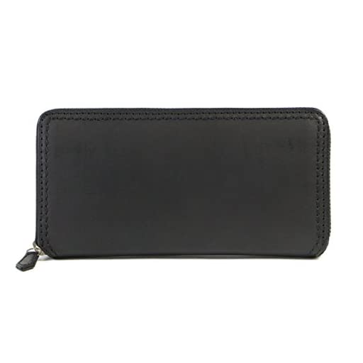 [ネルド] 長財布 メンズ 本革 ラウンドファスナー イタリアンバッファロー ボックス型
