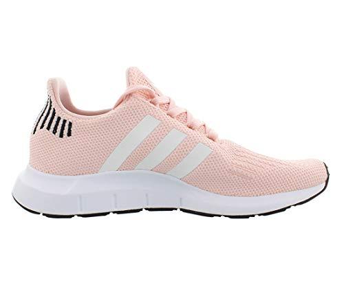 adidas Originals Women's Swift Run Sneaker, ice Pink/White/Black, 10 M US