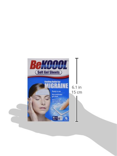 Be Koool Cooling Relief for Migraine Soft Gel Sheets 4 Each by BeKoool (Image #8)