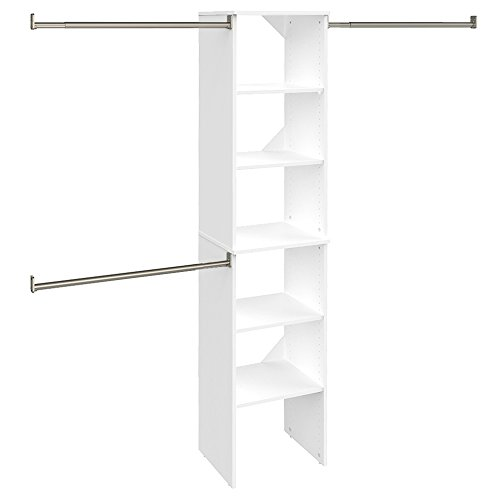 ClosetMaid 4868 SuiteSymphony 16-Inch Starter Tower Kit, Pure White (Closetmaid Organizers)