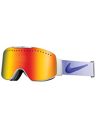 Nike Fade Goggles, White/Purple Haze Frame, Red + Yellow Red Ion - Nike Dragon Goggles