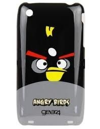 Angry Birds - Black Bomber Bird - Hard Case for iPhone 3G 3GS