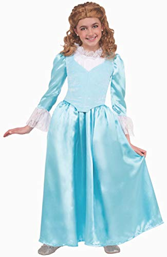 Forum Novelties Kids Colonial Lady Costume, Blue, Large ()