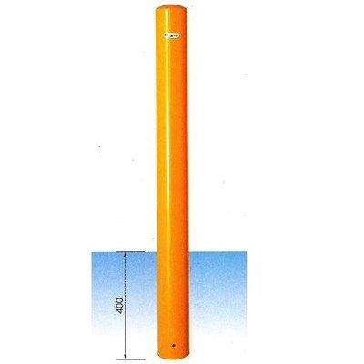安全サイン8 車止め サンキン メドーマルク ポストタイプ 鉄製 固定式(埋込400mm) φ114.3×L1250mm(全長) FP-11 カラー:黄色 B075SPMLMK 13800