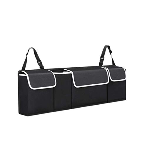 Wakauto Car Back Seat Organizer with 4 Pockets Backseat Organizer, Hanging Car Boot Tidy Organiser for SUV Truck Van