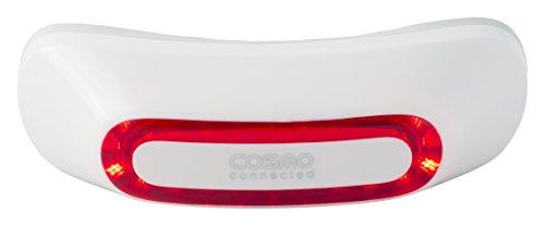Cosmo Connected remlicht achter, afneembaar, gecombineerd met een mobiele app, geschikt voor de meeste helmtypes.