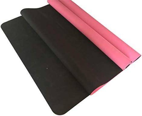 Yoga mat 厚いヨガマット厚いピラティスヨガピラティスエアロビクス強い構造5mmの快適なホームフィットネスマット、ピンク workout