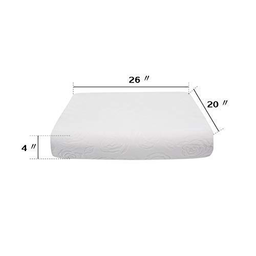 Natural Latex Foam Pillow for Sleeping Comfortable and Firm Bed Pillows with Cover Standard -Lanko Meca Color White