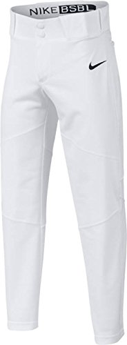 (NIKE Boys' Pro Vapor Baseball Pants (S, White))