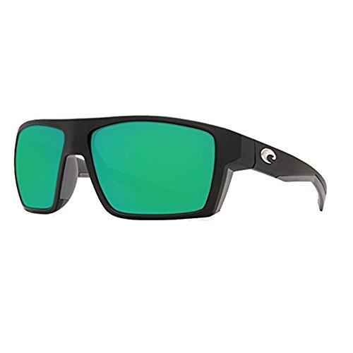 Costa Del Mar Bloke 580G Bloke, Matte Black Matte Gray Green Mirror, Green Mirror