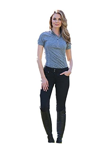 Goode Rider Jean Rider Breech Knee Patch Black Denim 28L ()