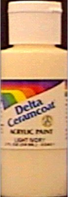 Plaid Delta Ceramcoat Acrylic Paint 2oz-Oyster White - Opaque ()