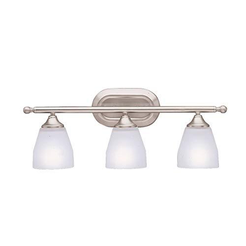 Bathroom Vanity 3 Light Fixtures with Brushed Nickel Finish Medium Bulb Type 23