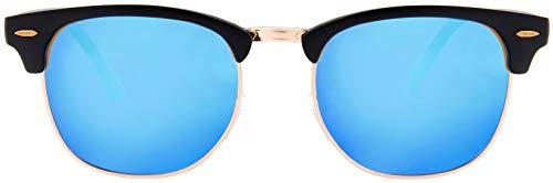 Black Frame Blue Mirror - 4