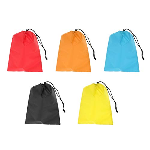 - SM SunniMix Pack Nylon Waterproof Drawstring Storage Bag Stuff Sack Organizer Pouch for Travel, Camping, Hiking, Backpacking - 5 Colors, 32 x 24cm
