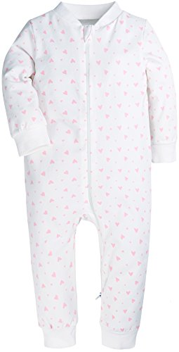 Baby Boys and Girs Romper Onesies Footless Baby Jumpsuits Zipper up Style Bodysuit for (Footless Long Sleeve)