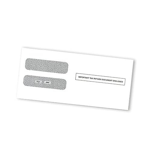 100 Envelopes Designed for 2017 3 UP Laser W-2 Forms