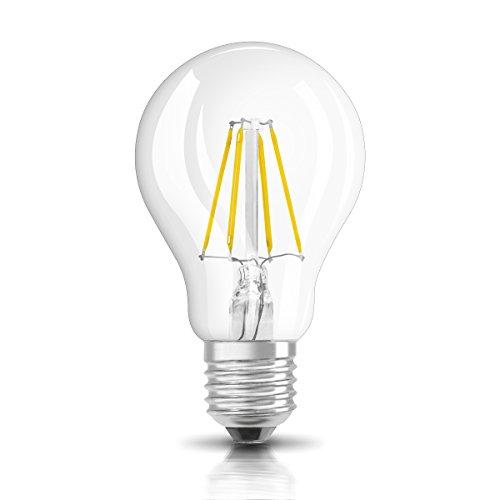 OSRAM LED-Lampe E27 Retrofit Classic A / 6W - 60 Watt-Ersatz, LED Birne als Kolbenlampe / klar, warmweiß - 2700K