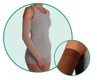 Arm Sleeve MX Long with Silicone Border, Beige, Size 3, Medium, Compression 30-40 mmHg, Model 2002M