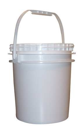Pail, Screw Top, Round, 2.5 Gal, Hdpe, White by Bway