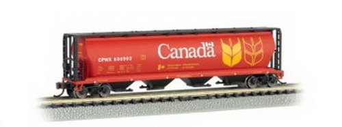 Bachmann Industries Inc. Canadian 4-Bay Cylindrical Grain Hopper Canada Grain - N (Bachmann Cylindrical Hopper)