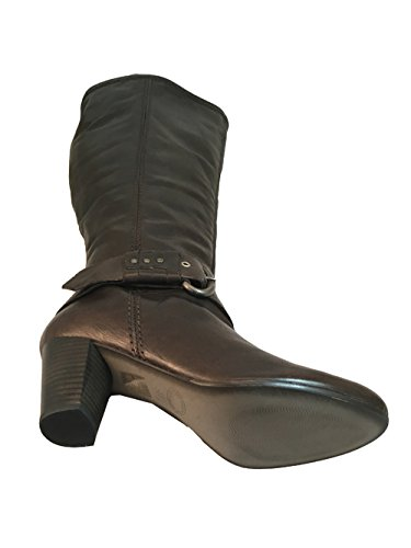 Lamica Womens Italian Knee High Round Toe Boots Macchiato Brown l0XSZ0