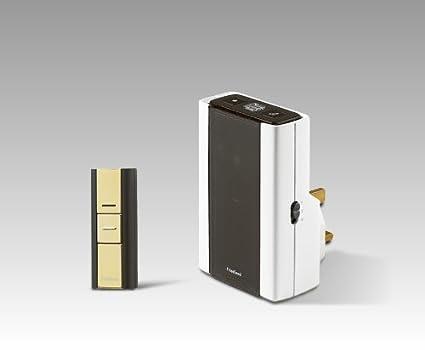 200m Wireless Doorbell kit with Wireless Contemporary Visi Pro Friedland Libra