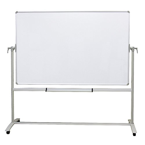 - VIZ-PRO Double-sided Magnetic Mobile Whiteboard, 48 x 36 Inches, Steel Stand