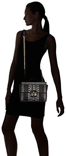 Borsa H black X Cm Donna Trussardi L Tracolla Nero w 25x18x8 75bl2753 silver A n8YYF75z