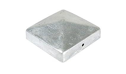 meingartenversand.de Zaunpfosten Kappe//Pfostenabdeckung 9 x 9 cm eckig in Pyramiden Form aus Edelstahl
