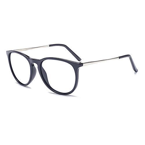 Dollger Retro Round Glasses Frames Brand Style Women's Eyeglasses Classic Vintage Design Black frame/Transparent lens ()