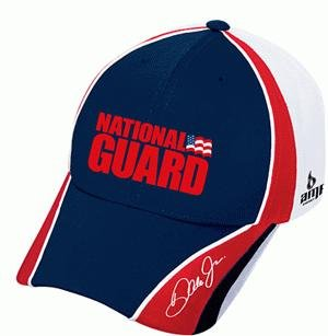 - Dale Earnhardt Jr #88 National Guard Red & White Chase Authentics Pit Hat Cap