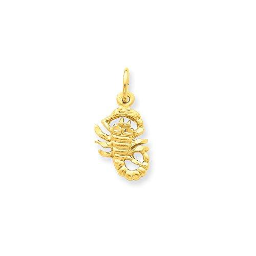 14k Yellow Gold Scorpio Zodiac Charm