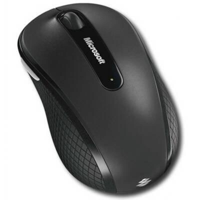 Microsoft D5D-00124 Wireless Mobile Mouse 4000 - MS Blue Track - Flip 3D Button - USB - Tilt Wheel - PC Mac - Black