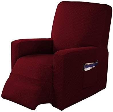 Sofa Cover Anti-Slip Washable House Cover for TV Armchair ACAMPTAR Elastic Recliner Sofa Cover Relaxing Armchair Wine Red