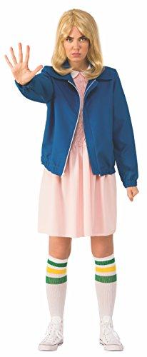 Rubies Costume 700040 Co Womens Stranger Things Season 1 Adult Eleven Jacket, Blue, Standard