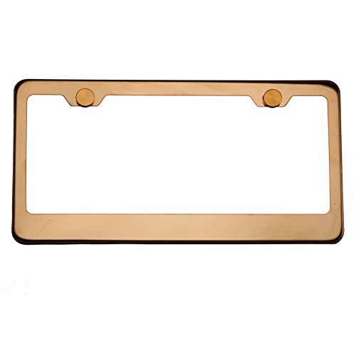 Compare price to rose gold license plate frame ...