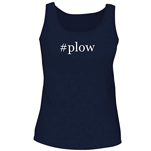 BH Cool Designs #plow - Cute Women's Graphic Tank Top, Navy, Small