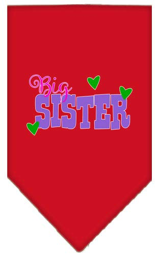 (Mirage Pet Products Big Sister Screen Print Bandana Red Large )