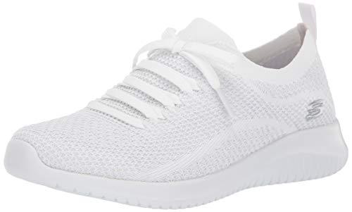 Skechers Ultra Flex-Salutations White/Silver 8.5