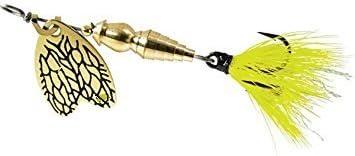 size 1//4 g. yellow may Mepps thunder bug
