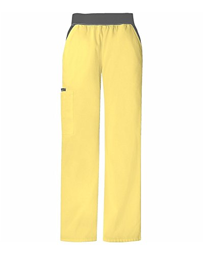 Cherokee 1031 Women's Flexibles Cargo Scrub Pant Hello Yellow X-Large Petite