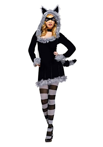Fun World Women's Racy Raccoon Costume Adult Costume,