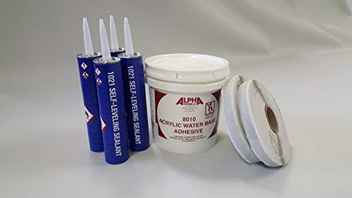 Class A Customs Superflex RV Rubber Roof Kit 8.5' X 25' Complete Kit