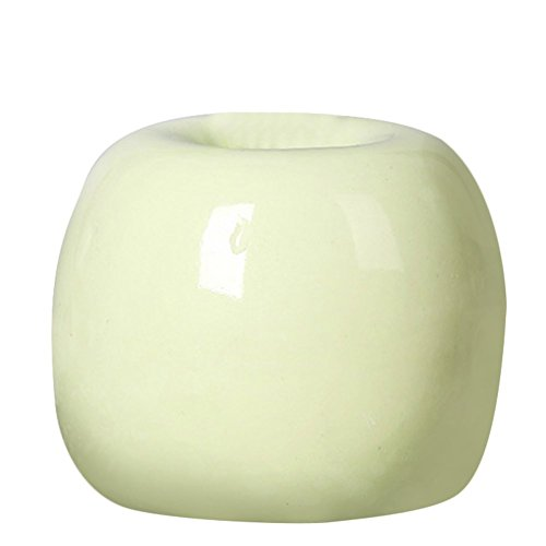 Outflower Apple-Shaped Ceramic Vase Hydroponic Vase(Green)